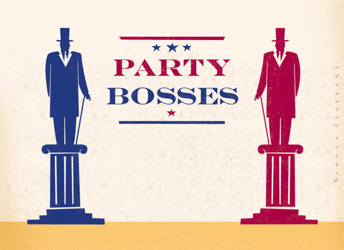 Illustrations about the American elections, US, USA, red vs blue, party bosses, president, congress, candidates