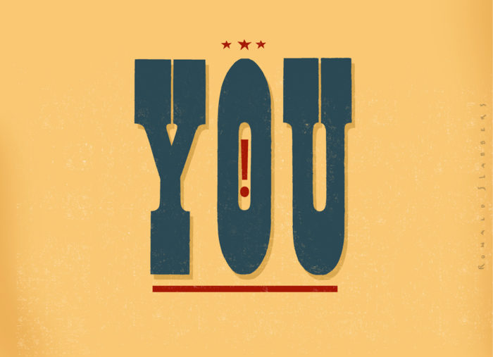 Vintage American Typography: the word 'YOU