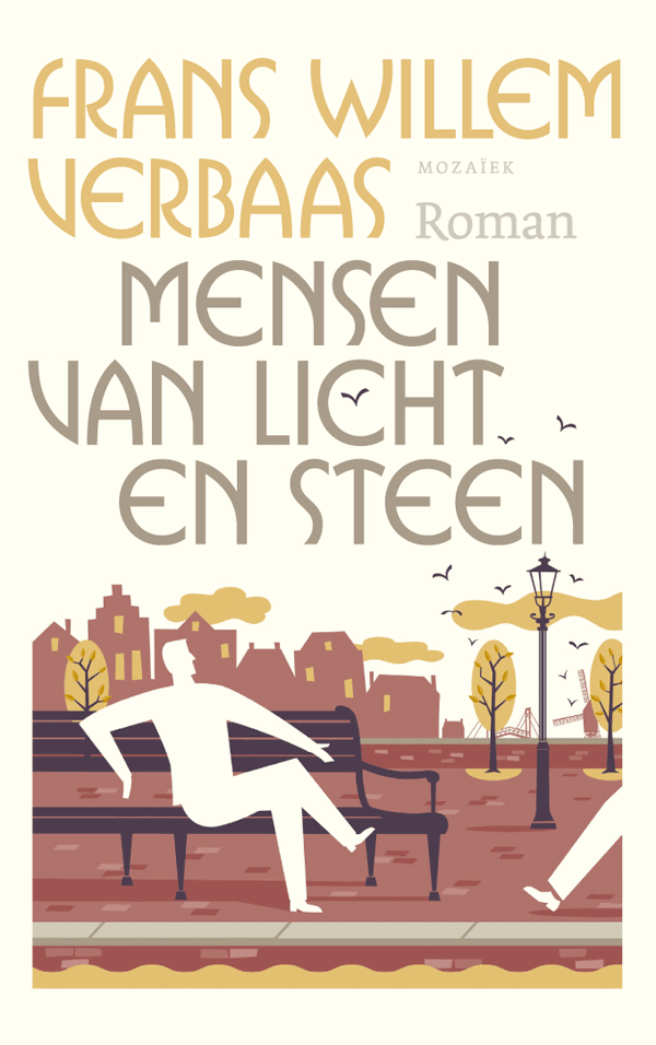 book cover illustration, people of light and stone. Book cover design Ron van Roon
