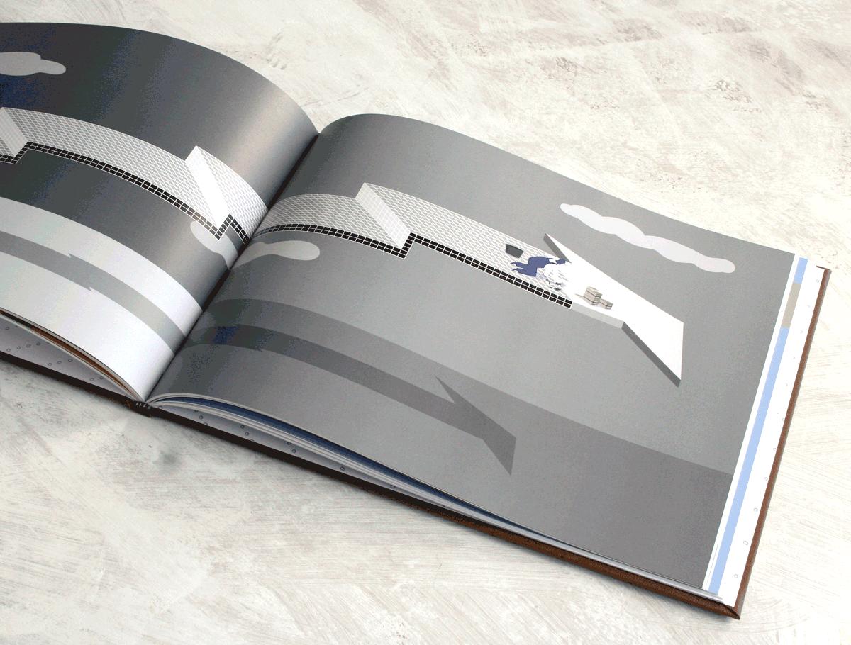 jaarverslag illustraties voor investeringsmaatschappij
