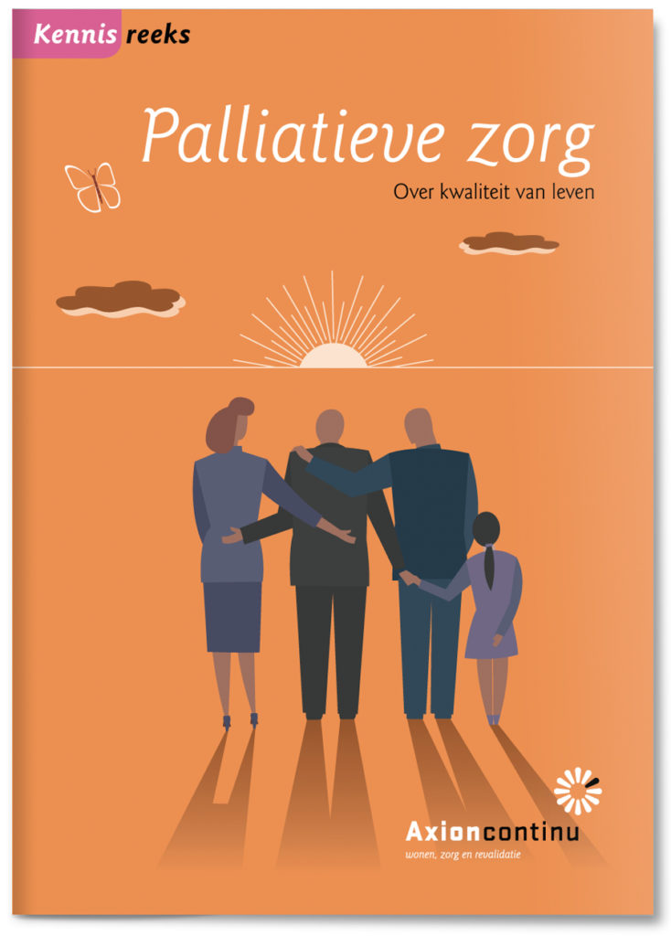 Healthcare brochure illustrations on palliative care