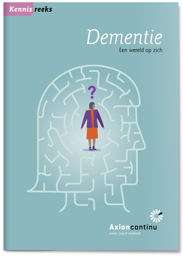 Healthcare brochure illustrations on dementia, client brochure
