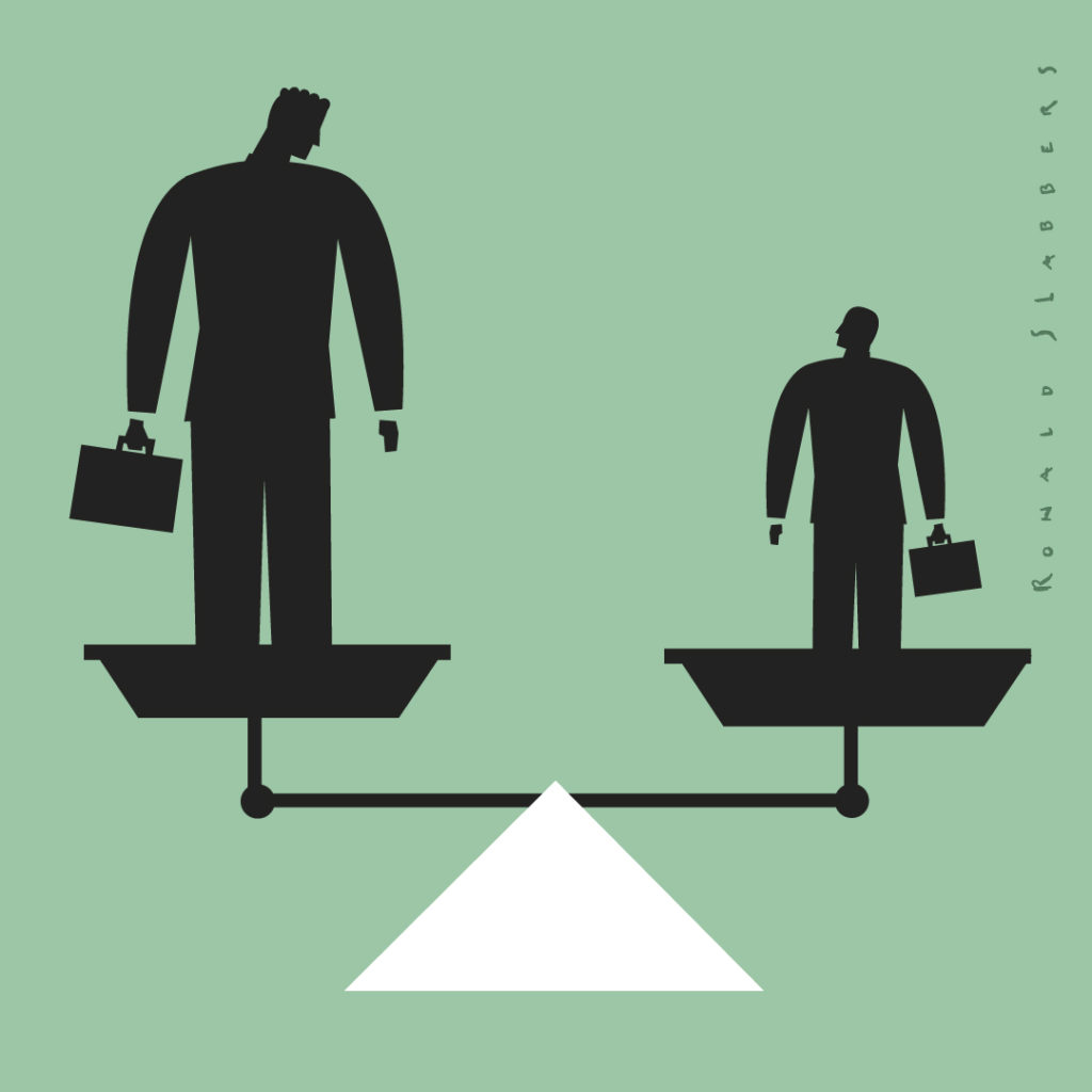 Pictogram businessman scale