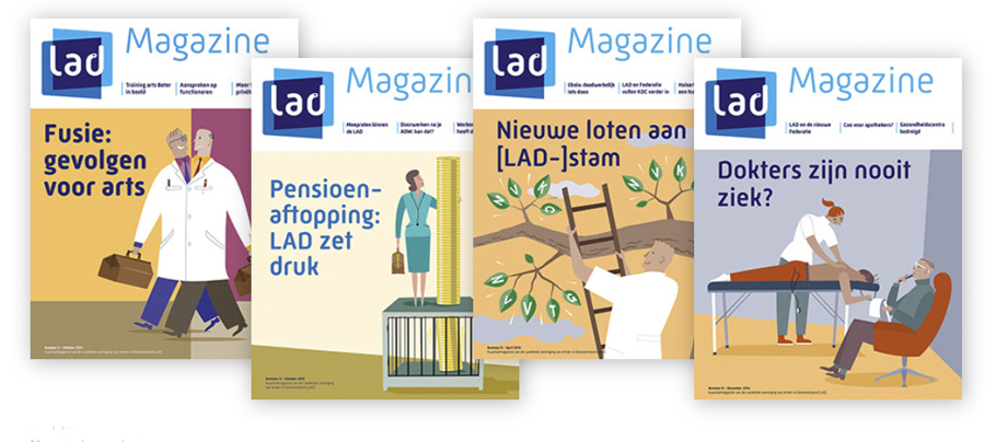 Editorial spot Illustrations and cover illustrationsfor a Magazine for medical practitioners.