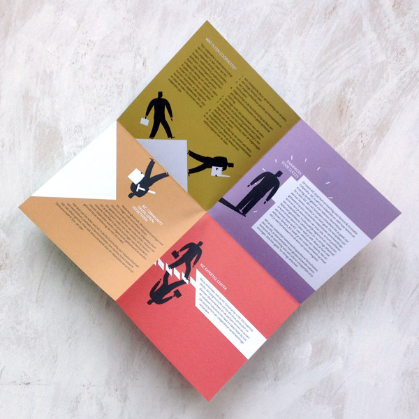 Pictogram brochure folding