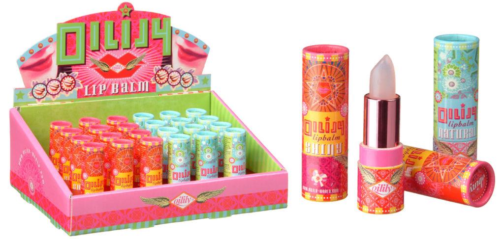 Oilily Lip Balsum: winkeldisplay en verpakking ontwerp
