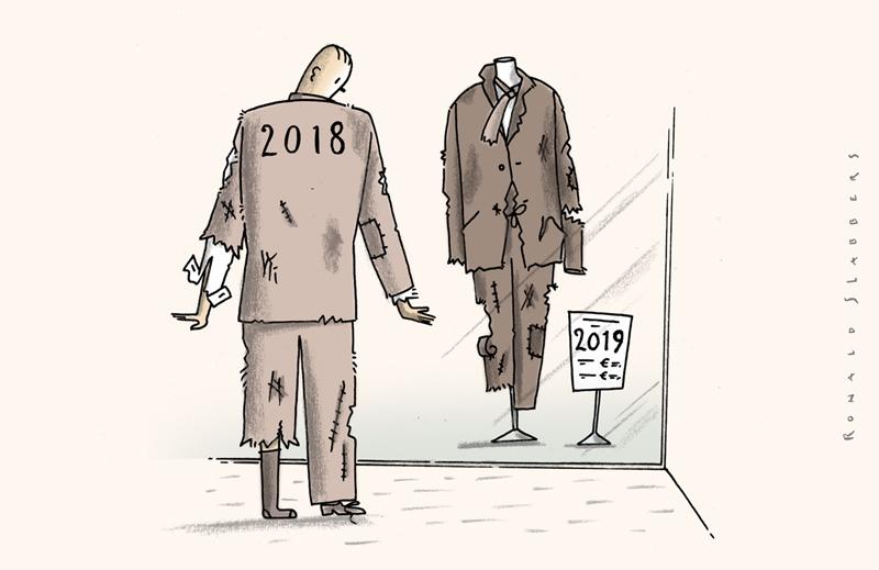 cartoon - New Year poverty