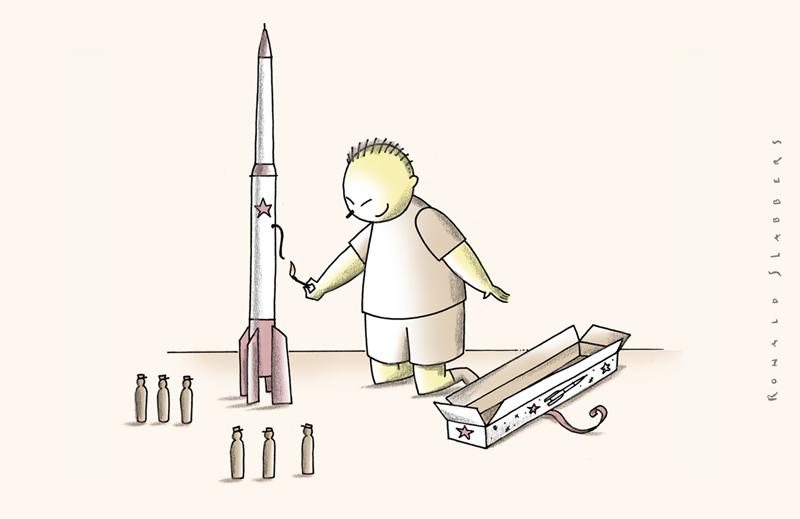 cartoon about North Korea playing with fire, Donald Trump vs Kim Jong-un, US vs North Korea, war thread, North Korean atomist missile thread