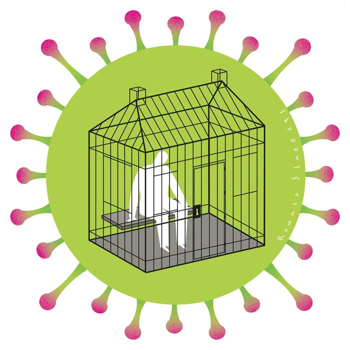 corona self isolation illustration covid19 zelfisolatie zelf isolatie