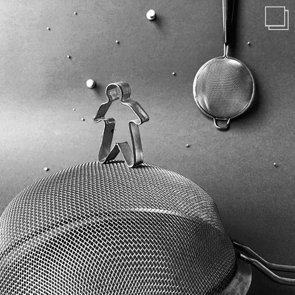 man on the moon b&w photo challenge