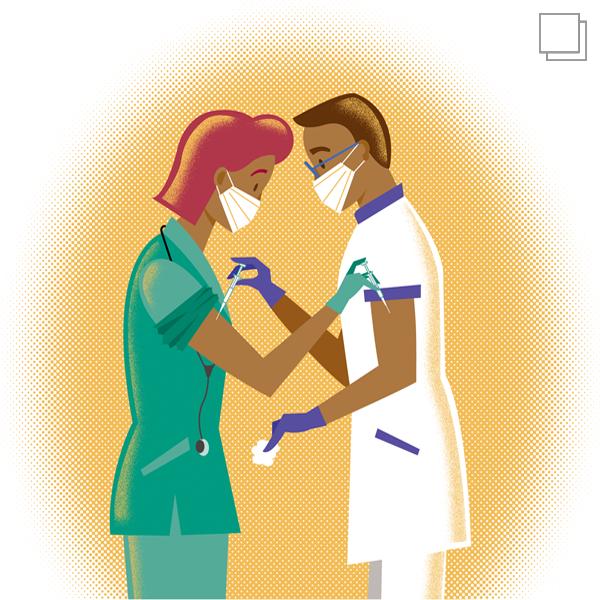 Covid 19 Corona doctors vaccination